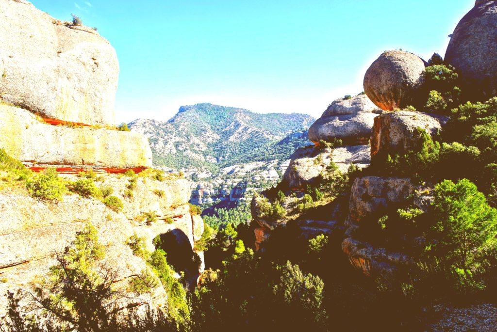 Blick in die Schlucht von Fraguerau im Naturpark Serra de Montsant