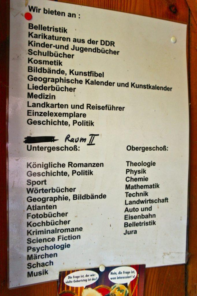 Sortierung Bücherburg