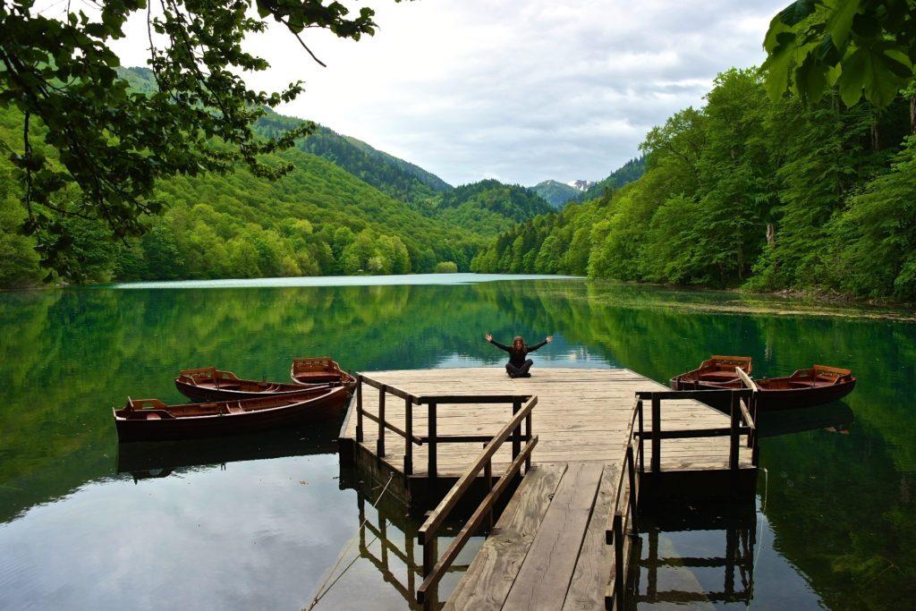 Bootssteg am Biogradsko Jezero