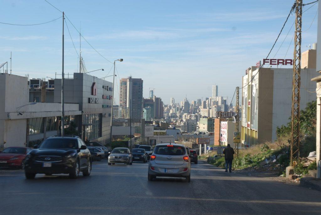 Taxifahrt durch Beirut
