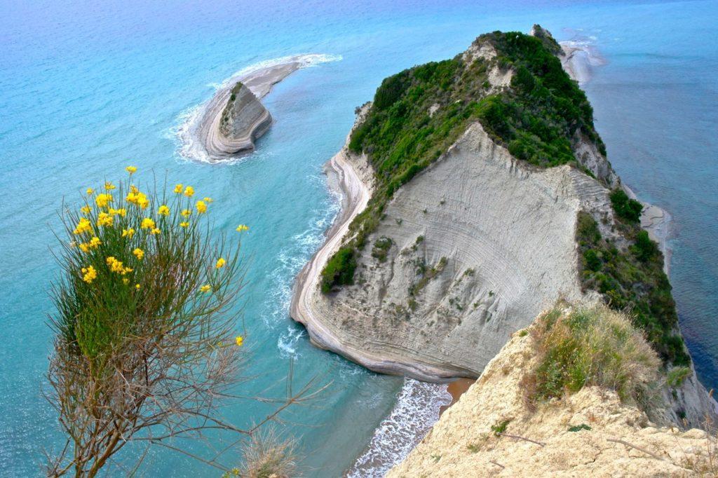 Blick auf das Kap Drastis Korfu