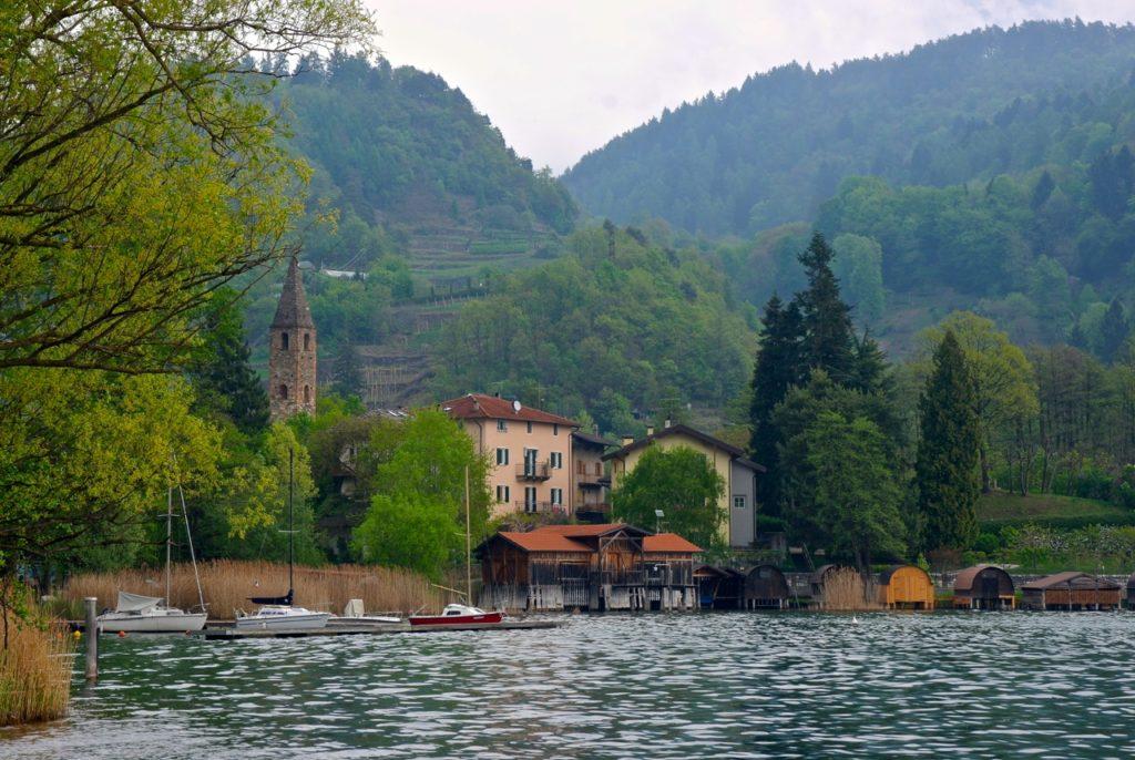 Segelboote am Lago die Caldonazzo