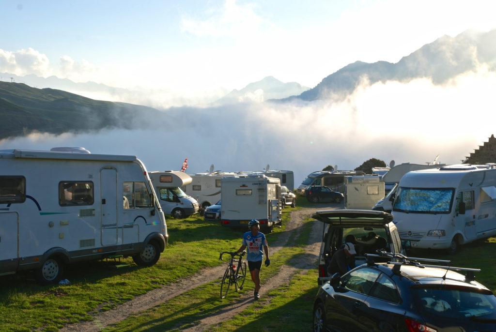 Camping bei der Tour des France