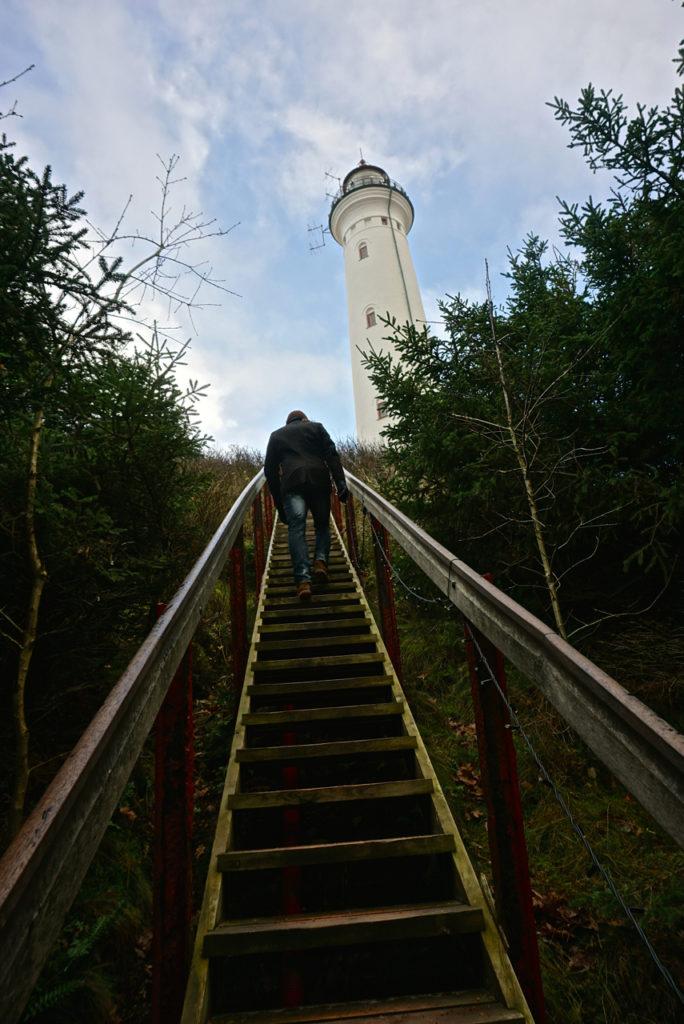 Aufstieg Leuchtturm Hvide Sande