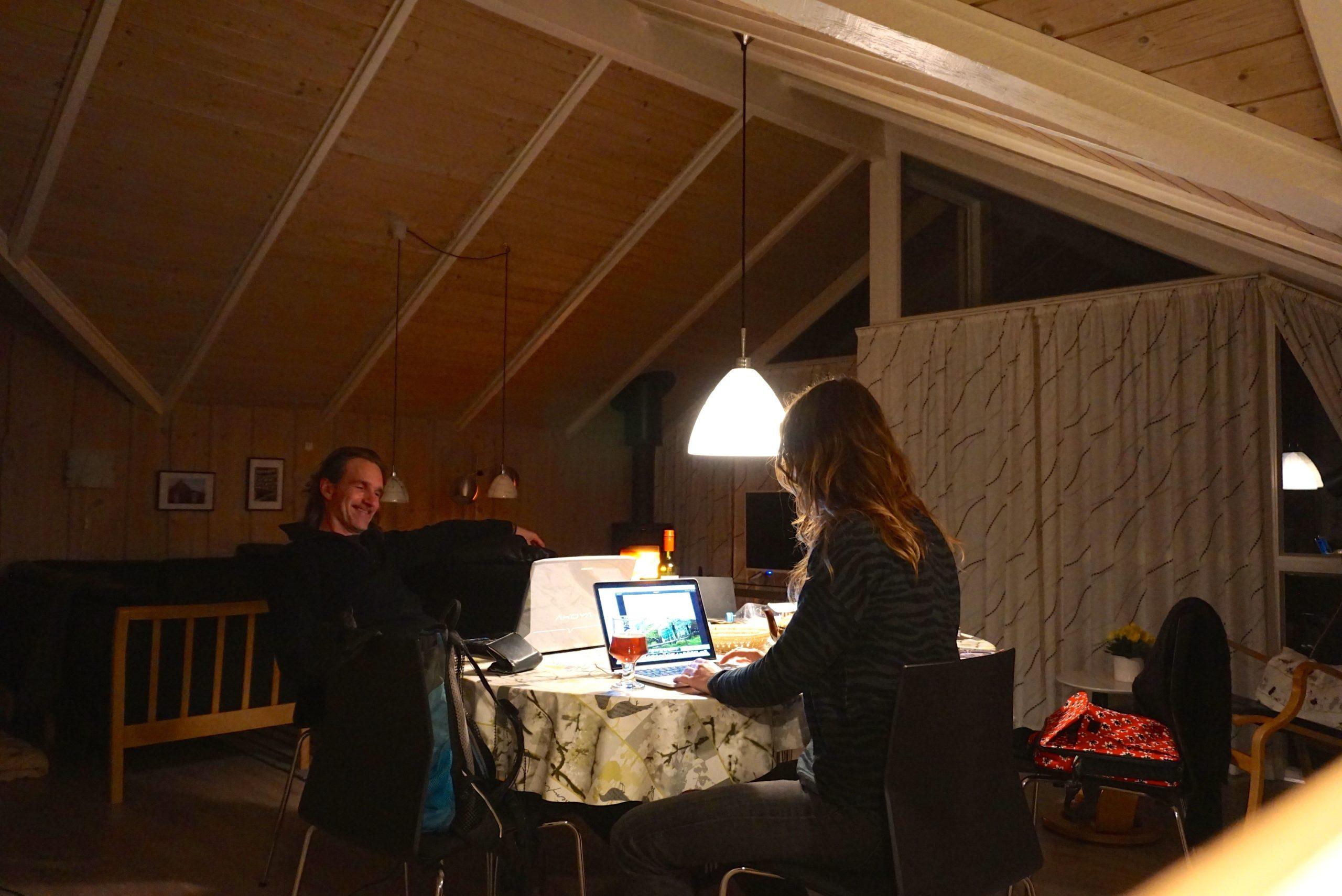 Abend im DanWest-Ferienhaus