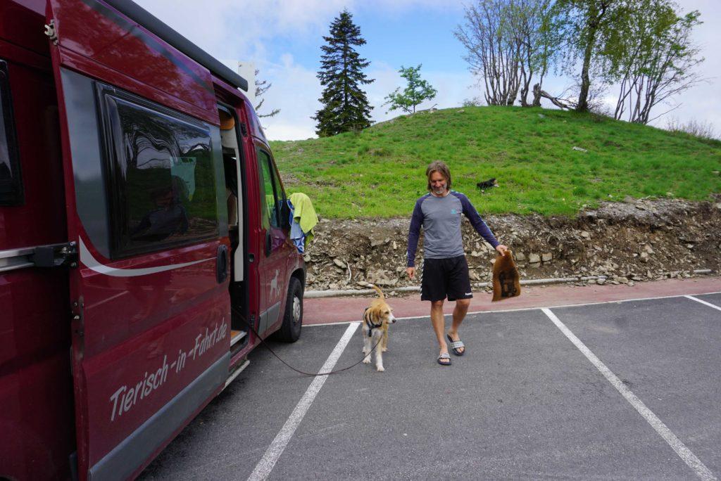Mit Wohnmobil auf dem Col de Turini