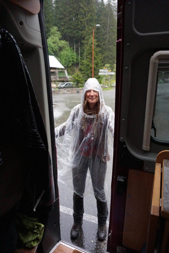 Regen beim Wolfspark-Besuch