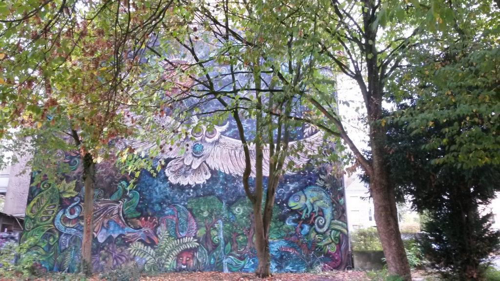 Wandbild mit Eule in Bielefeld