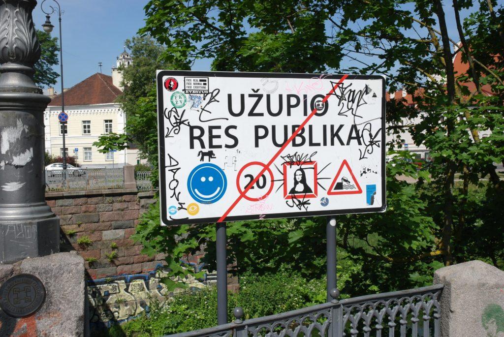 Schild Uzupis_tierisch-in-fahrt.de