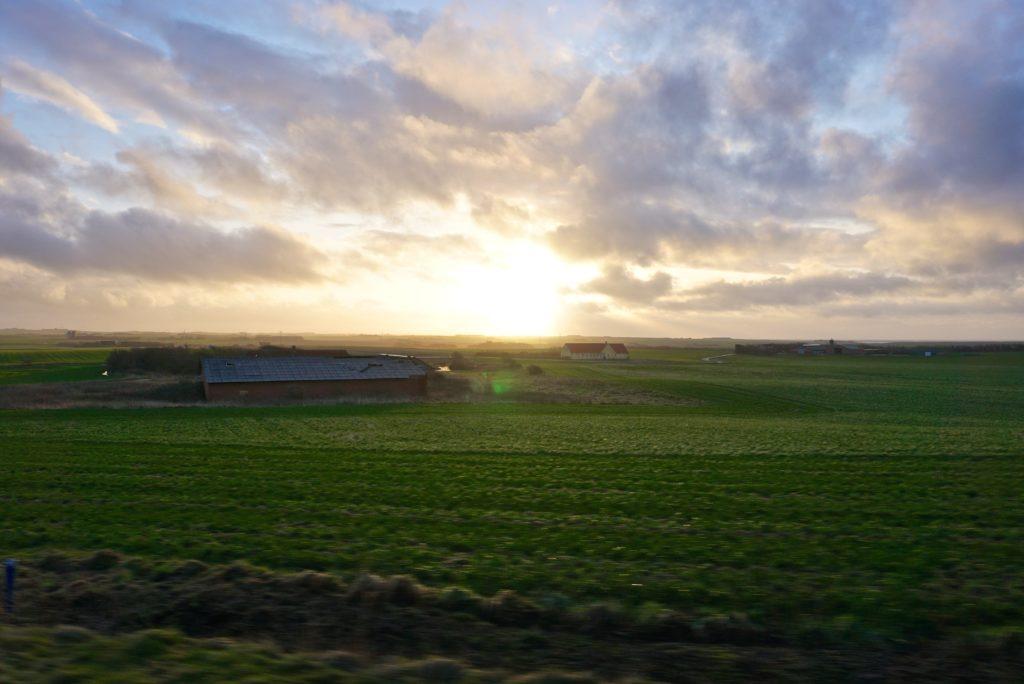 Weite Landschaft Norddänemark